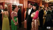 Elisabeth chose this green and pink for her retro look on 'Mad Men.'