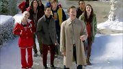 Darren Criss opted for a classic gray pea coat for his look on 'Glee.'