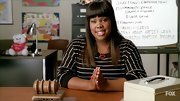 Amber Riley's striped tee is a nice casual go-to top.