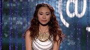 Jessica Sanchez opted for a more is more approach to accessories, adding a gold bib necklace to her chain-adorned dress.