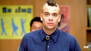 This fauxhawk is Mark Salling's signature bad boy 'do on 'Glee.'