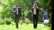 Piper Perabo kept things professional on 'Covert Affairs' in a slightly oversized black suit.