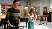 A striped sweater completed Cory Monteith's casual choir room-look in 'Glee.'