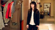 Take it in, it's not often you see Zooey in a sleek blazer sans ribbons.