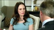 Pink lips were the perfect accent to Madeleine Stowe's ice blue dress on 'Revenge.'