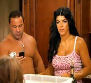 Teresa Giudice took a walk on the wild side on 'The Real Housewives of New Jersey' in a pink leopard print tank.