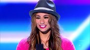 Ally Brooke punctuated her hot pink look with a summery straw fedora on 'X Factor.'