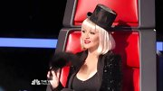 Christina Aguilera had a ringmaster vibe thanks to a jaunty and sparkly top hat placed just so.