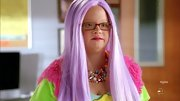 Lauren Elizabeth Potter was all about color on 'Glee' when she sported a multi-beaded bib necklace.