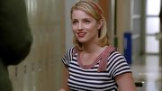 Dianna Agron brought sailor sensibility into her look with an adorable nautical-striped top.