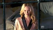 Helena Mattsson looked quite seductive in a romantic silk robe on '666 Park Avenue.'