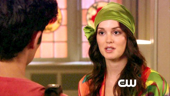 More Pics of Leighton Meester Head Scarf (1 of 24) - Head Scarf Lookbook - StyleBistro
