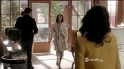 Both India de Beaufort's hair cut and wardrobe on 'Jane by Design' are so very Victoria Beckham. She made an entrance in this glam ivory trench.