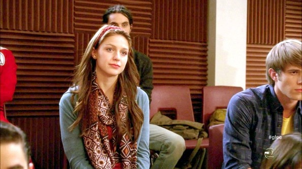 More Pics of Melissa Benoist Patterned Scarf (1 of 2) - Melissa Benoist Lookbook - StyleBistro []