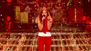 Carly Rose Sonenclar had everyone seeing red on 'The X Factor' in fire engine red jeans and a matching top.