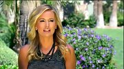 Emily Maynard added wow factor to her charcoal tank dress with a beaded black necklace.