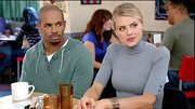 Eliza Coupe covered up on 'Happy Endings' in a curve-hugging turtleneck.