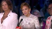 Jennifer Lopez's take on the pompadour almost gave the 'AI' judge a comb over effect.