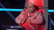 Cee-Lo Green is clearly the most fashionably adventurous judge on the show. Who else dares wear a red spiked jacket?