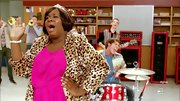 Alex Newell unleashed is inner diva with this leopard print fur coat.