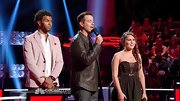 Nathalie Hernadez hit the stage of 'The Voice' in a girly bowed sweetheart dress.
