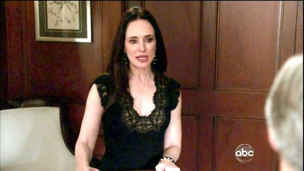 Intricate embroidery set apart Madeleine Stowe's LBD on 'Revenge.'