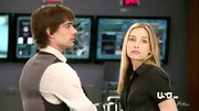 Piper Perabo was all business on 'Covert Affairs' in a black short-sleeved button down.
