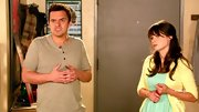 Jake Johnson kept his look simple and casual on 'New Girl' when he sported this short-sleeve henley.